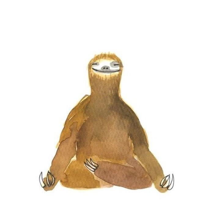 медитация ленивец