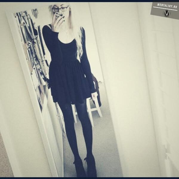 очень худая девушка