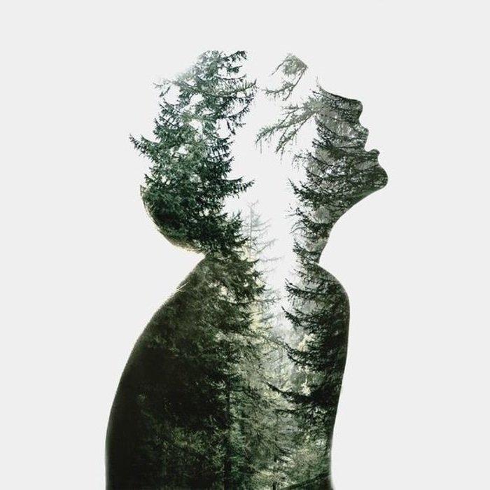 человек лес