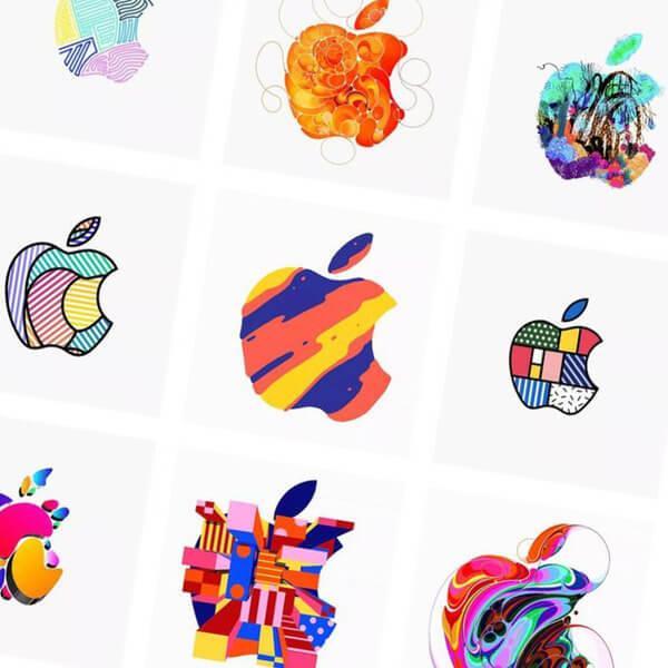 цветные лого эпл