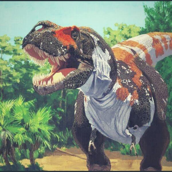 разноцветный динозавр