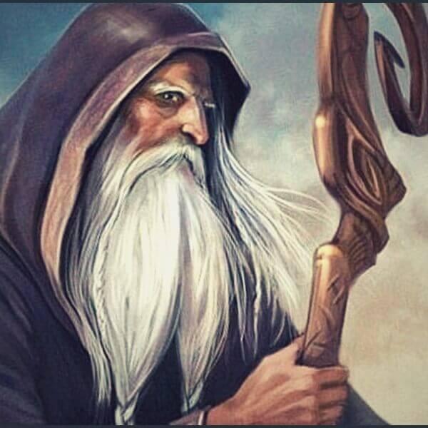 мудрый отец с палкой