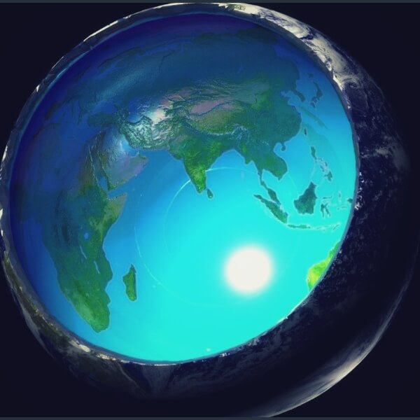 полая земля из космоса