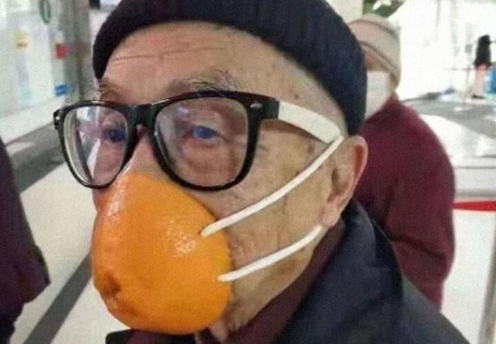 защитная маска из апельсина