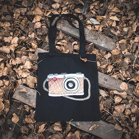 шоппер на листьях